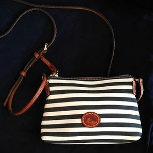 Dooney & Bourke Navy and white striped bag